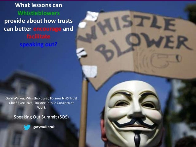 What lessons can Whistleblowers provide about how trusts can better encourage and facilitate speaking out? Gary Walker, Wh...