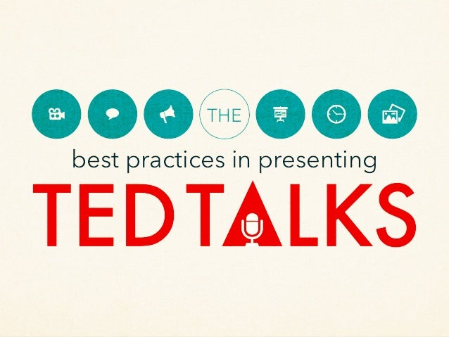 best practices in presenting THE