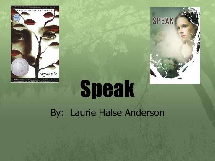 intro to novel speak speak by laurie halse anderson