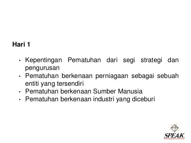 Speak pengurusan pematuhan hari 1 ppt Slide 3