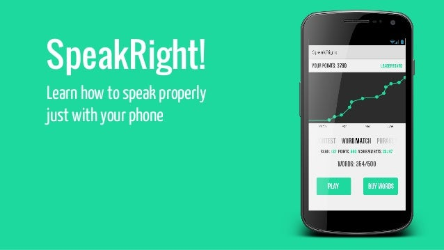SpeakRight - learn proper pronunciation with your phone