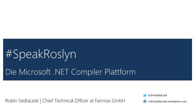Robin Sedlaczek | Chief Technical Officer at Fairmas GmbH robinsedlaczek robinsedlaczek.wordpress.com