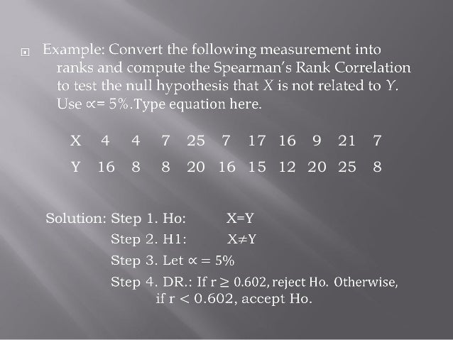 spearman coefficient review essay Correlation coefficient remains one of the most important nonparametric  measures of statistical dependence between two variables the spearman  correlation.