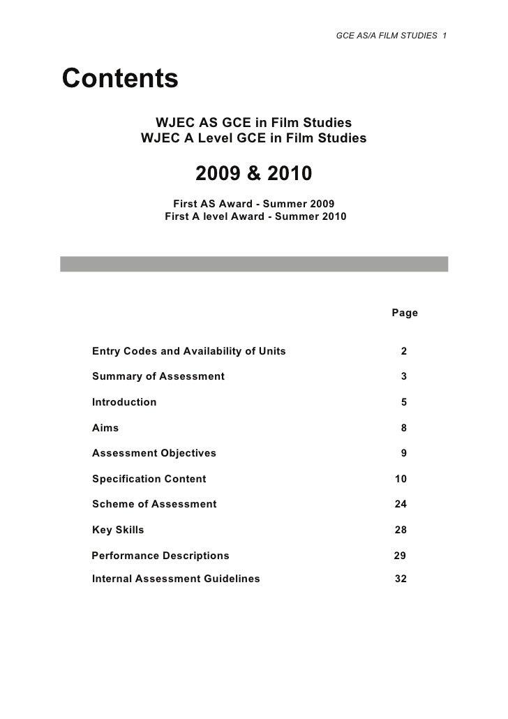 wjec gcse film studies coursework grade boundaries