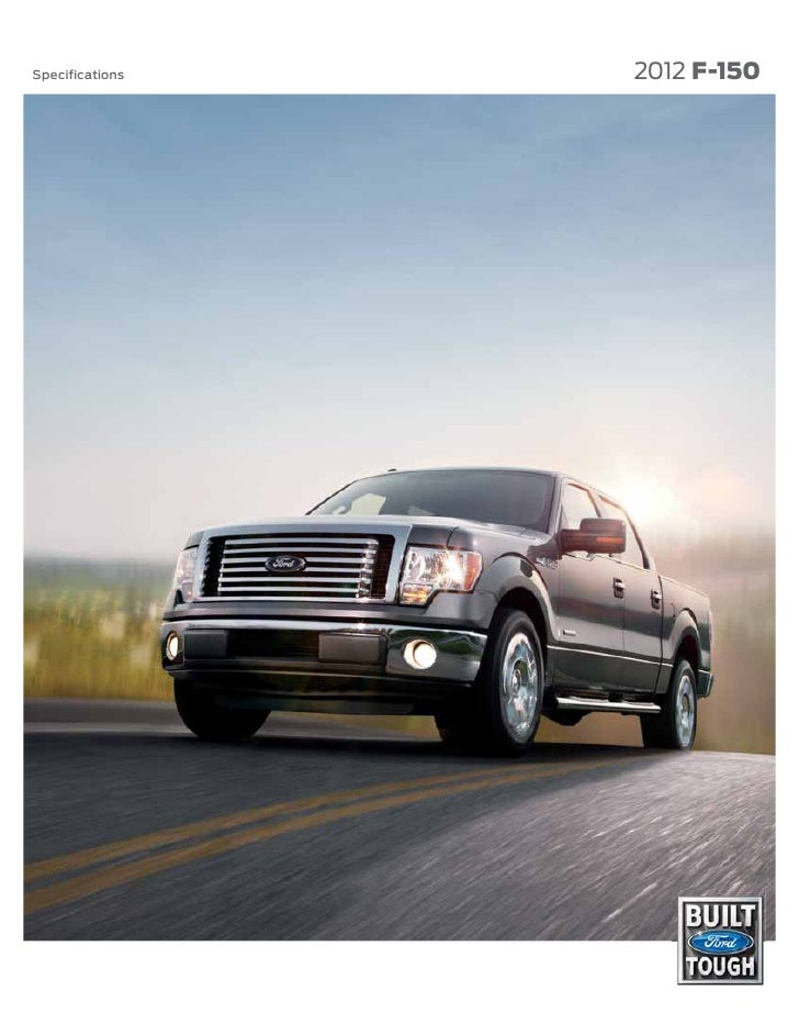 Specifications   2012 F-150