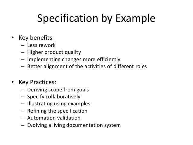 Spec By Example
