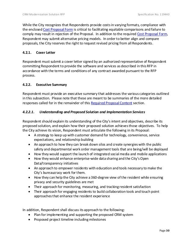 Government Contract Proposal Cover Letter