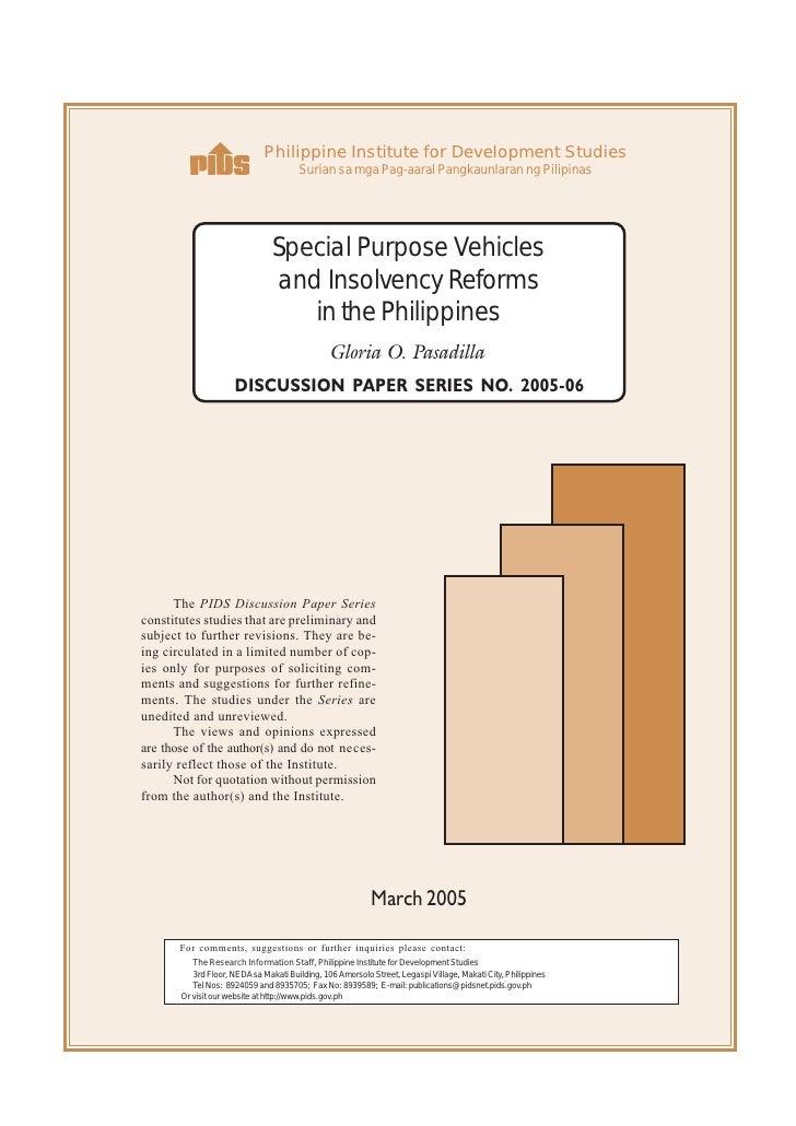 Philippine Institute for Development Studies                                        Surian sa mga Pag-aaral Pangkaunlaran ...