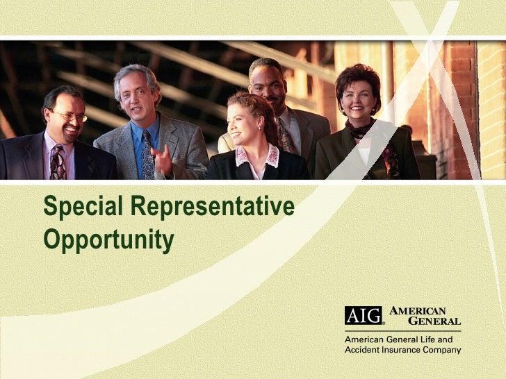 Special Representative Opportunity