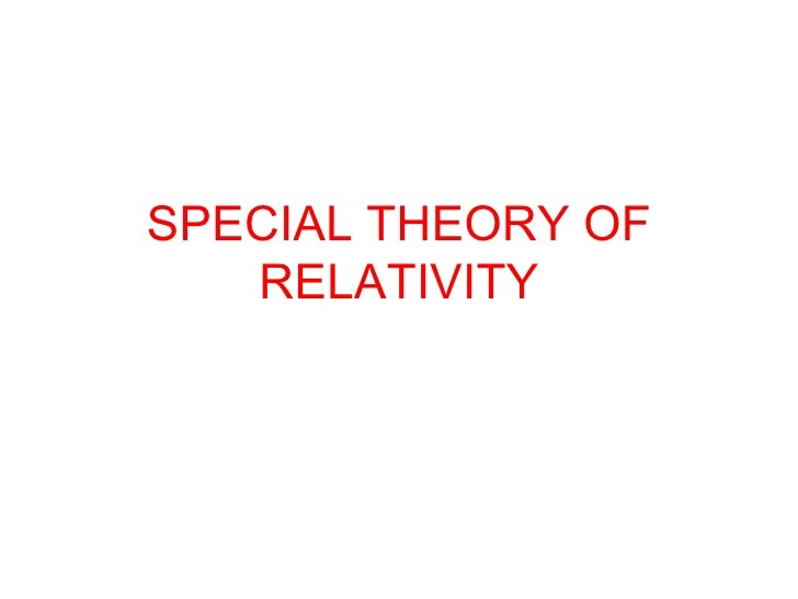 special theory of relativity articles