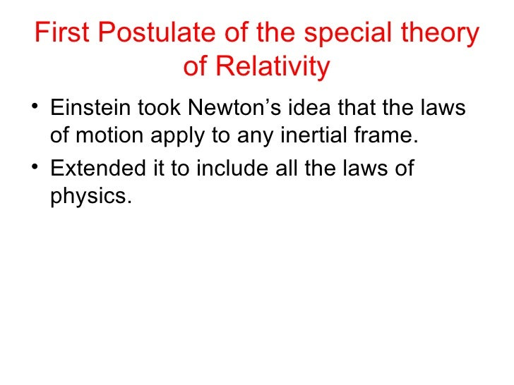 special theory of relativity can be How do you add velocities in special relativity  this change in the velocity addition formula from the non-relativistic to the relativistic theory is not due to.