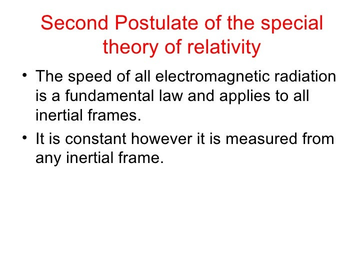 theory of special relativity questions In 1905, albert einstein published his special theory of relativity, and his general theory of relativity was made public in 1915 for these accomplishments, he is often heralded as the most influential thinker of the 20th century and possibly in modern history.