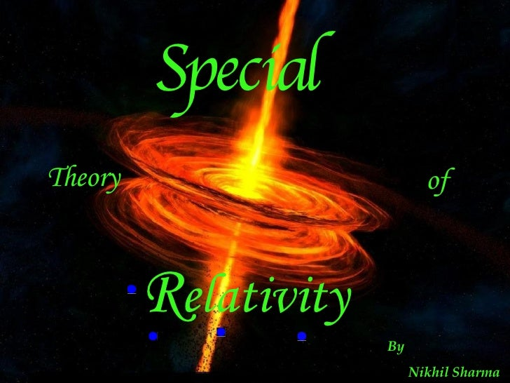 How Can We Improve Special Education >> Special Theory Of Relativity