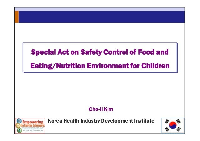 Special Act of Food & Eating, Nutrition for Children in Korea
