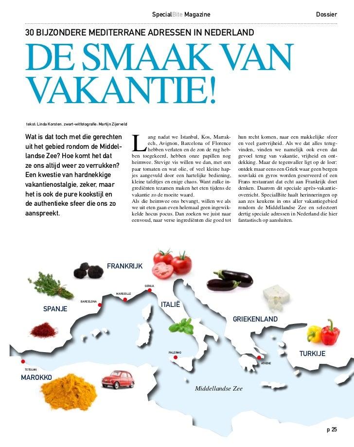 SpecialBite Magazine                                                         DossierDE SMAAK VAN30 BIJZONDERE MEDITERRANE ...