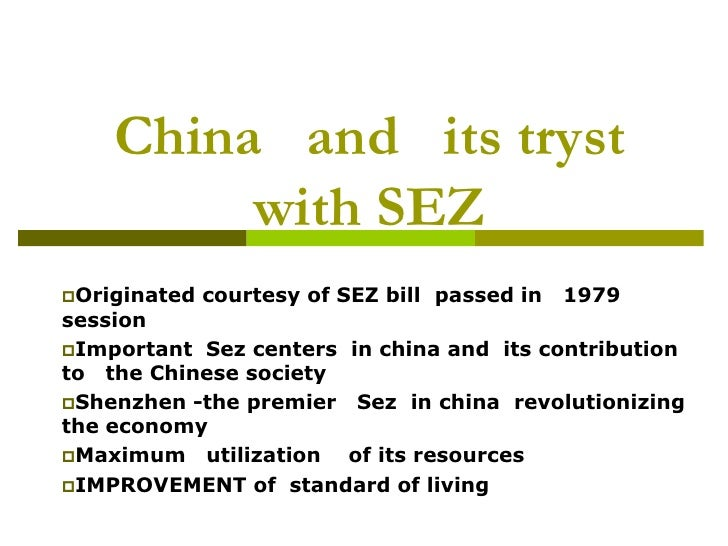 special economic zones as growth engines Numerous special economic zones (sezs) and industrial clusters that have sprung up since the reforms are undoubtedly two important engines for driving the country's growth.