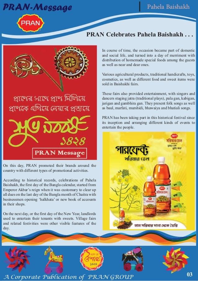 Special edition of pran message on pahela baishakh 1424