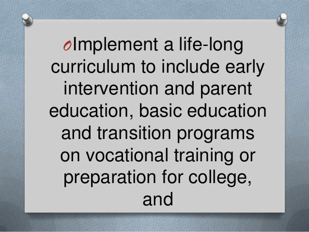 life skills education thesis Any skill that is useful in your life can be considered a life skill  see our pages:  what is learning and lifelong learning for more information about effective.