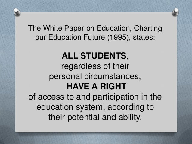 Special education - EDUCATION FOR ALL! Slide 2