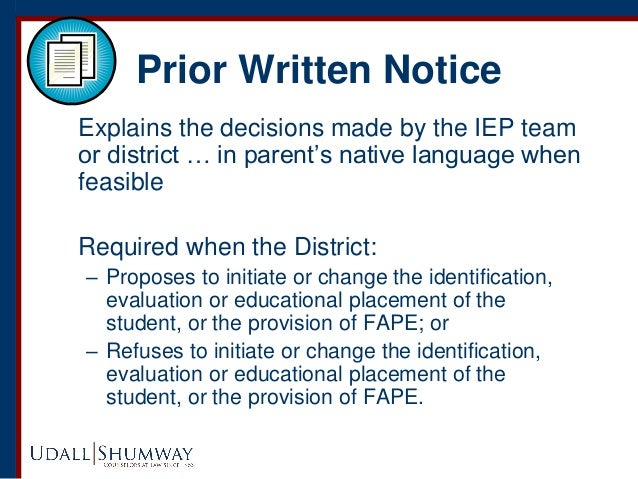 Parents Rights In Special Education Notice Of Procedural Safeguards >> Special Education 101