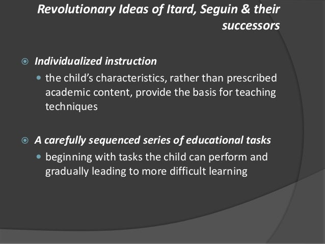 contributions of edouard seguin to special education pdf