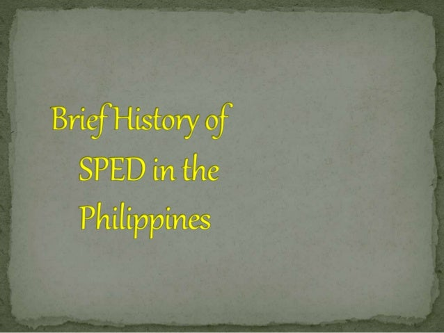 history of special education timeline