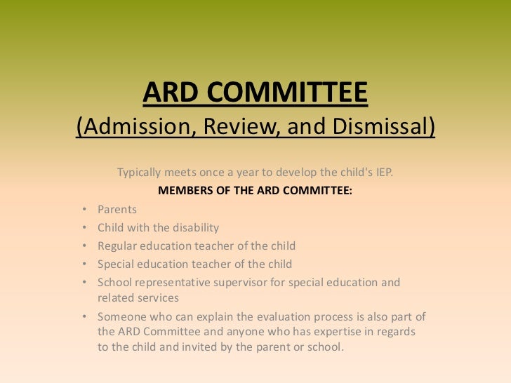 Admissions Review Dismissal/ Individualize Education Plan/ Inclusion Essay