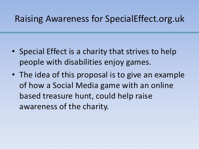 Raising Awareness for SpecialEffect.org.uk • Special Effect is a charity that strives to help people with disabilities enj...