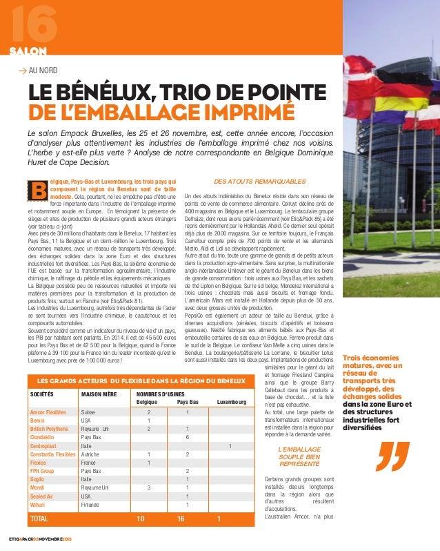 elgique, Pays-Bas et Luxembourg, les trois pays qui composent la région du Benelux sont de taille modeste. Cela, pourtant,...