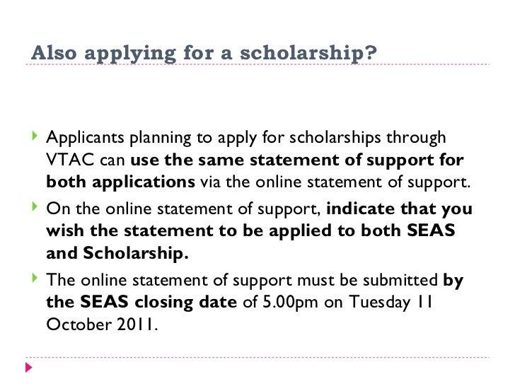 vtac scholarship application closing date