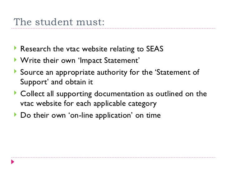 vtac personal statement length