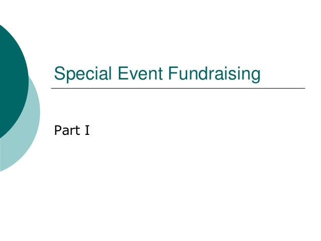 Special Event Fundraising Part I