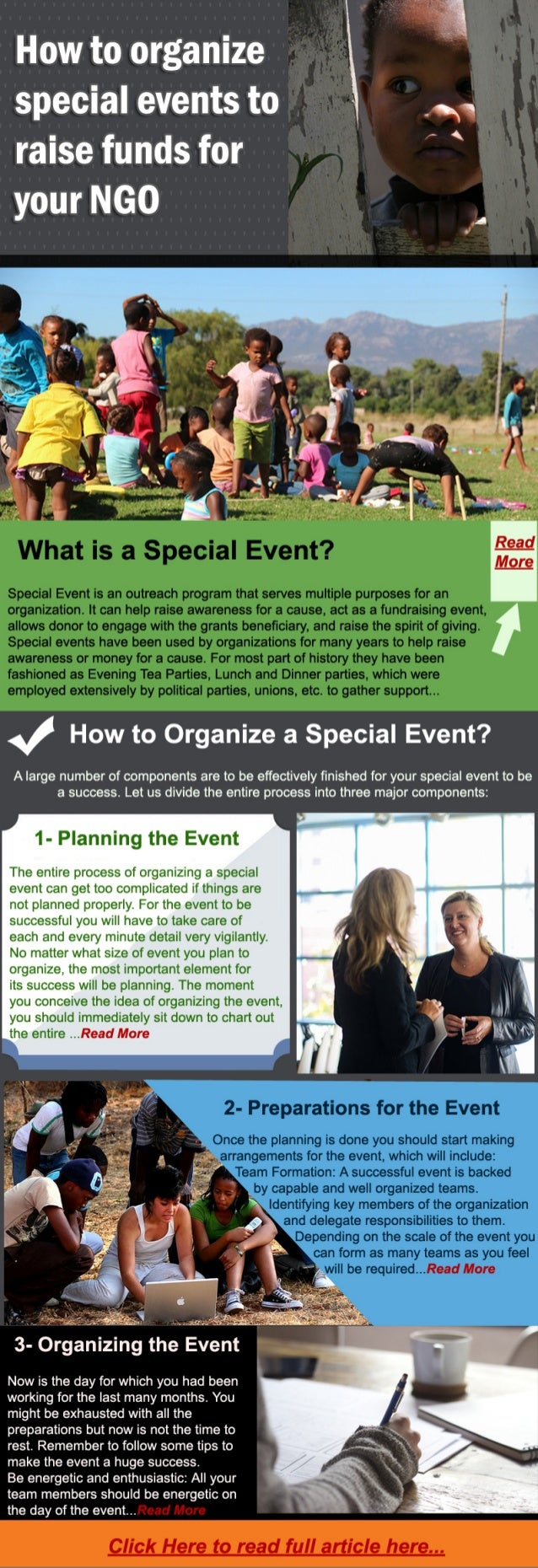 How to organize special events to raise funds for your NGO