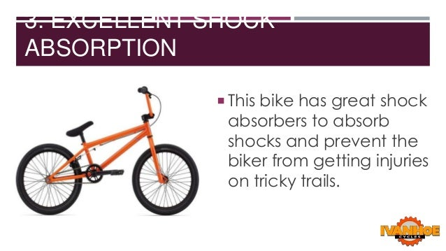 3. EXCELLENT SHOCK ABSORPTION  This bike has great shock  absorbers to absorb shocks and prevent the biker from getting i...