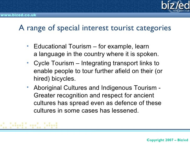 Special interest tourism essay free