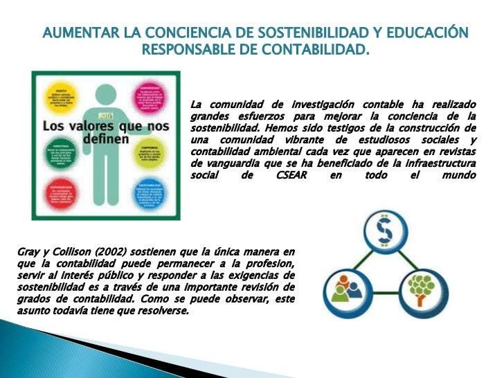 AUMENTAR LA CONCIENCIA DE SOSTENIBILIDAD Y EDUCACIÓN                RESPONSABLE DE CONTABILIDAD.                          ...
