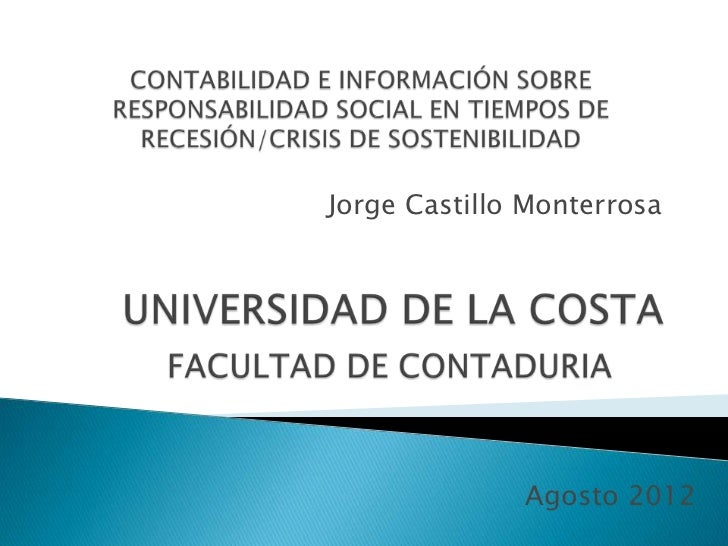 Jorge Castillo Monterrosa              Agosto 2012
