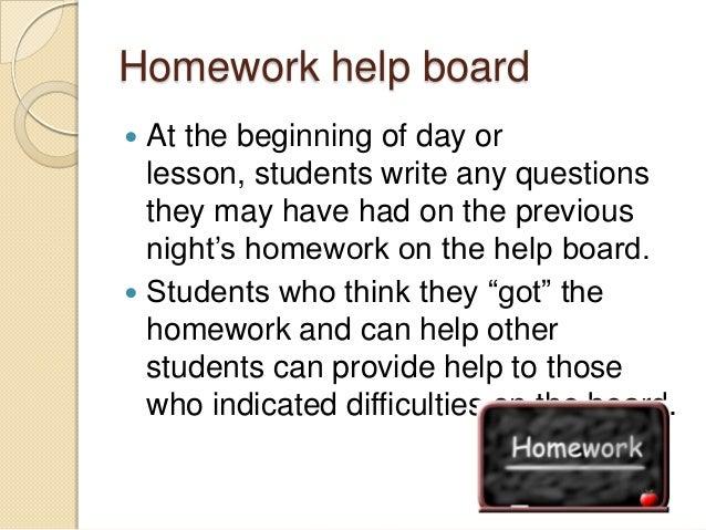 Homework help board