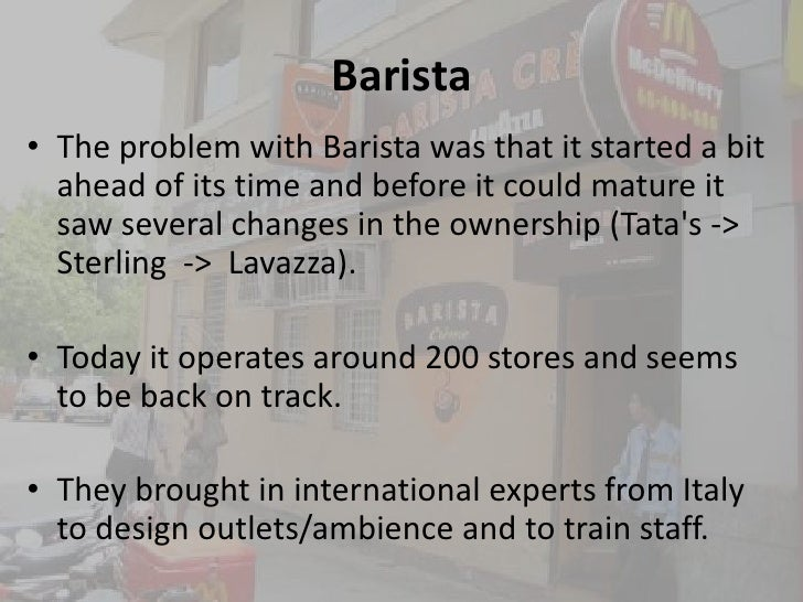 The business of coffee chains in India