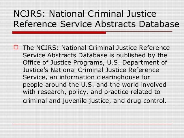 Criminal Justice Databases