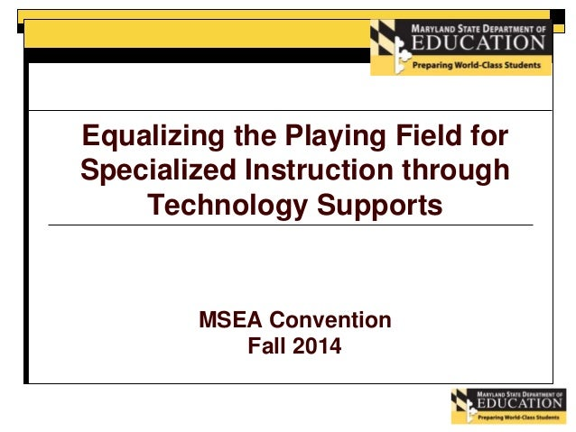 Msea Specialized Instruction Through Technology Supports