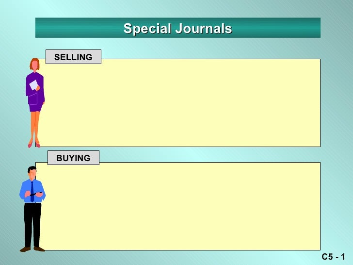 Special JournalsSELLINGBUYING                             C5 - 1