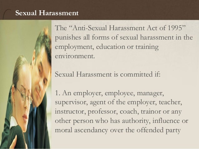 Anti sexual harassment act of 1995 ppt airport