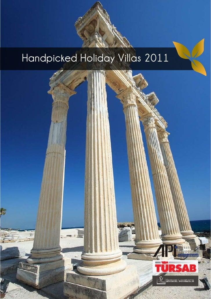 Handpicked Holiday Villas 2011                             Special Locations