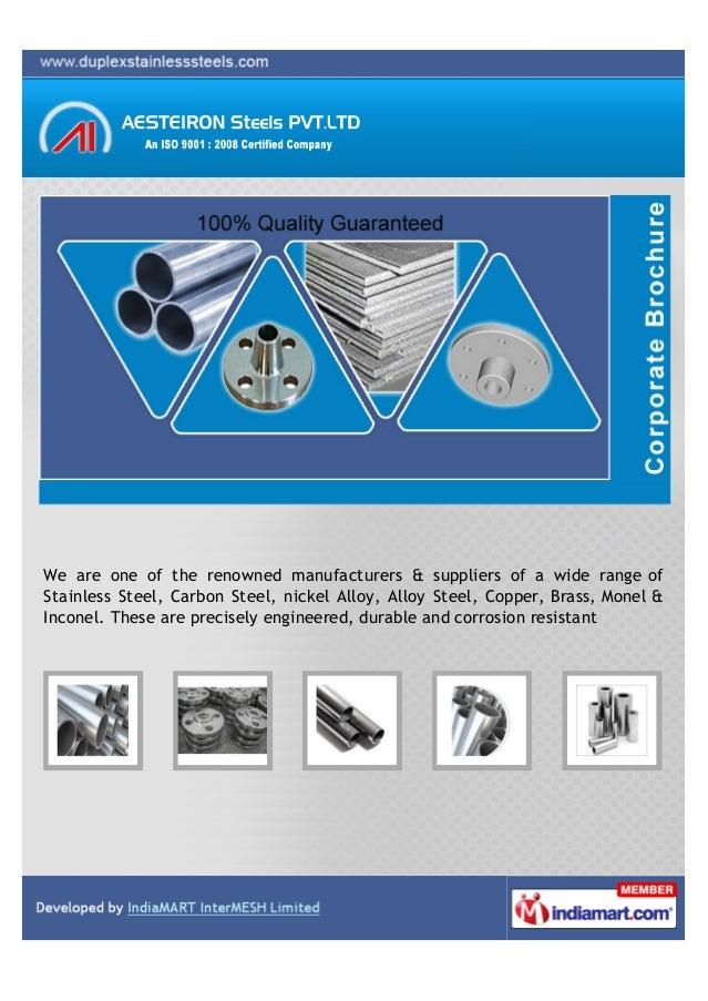 We are one of the renowned manufacturers & suppliers of a wide range ofStainless Steel, Carbon Steel, nickel Alloy, Alloy ...