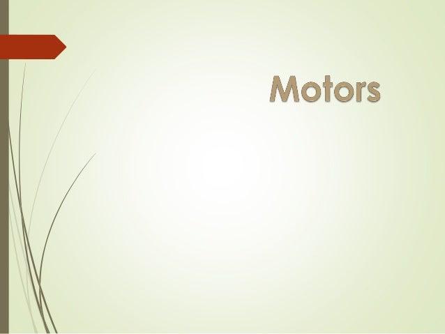 2 Overview  DC Motors (Brushed and Brushless)  Stepper Motors Sean DeHart