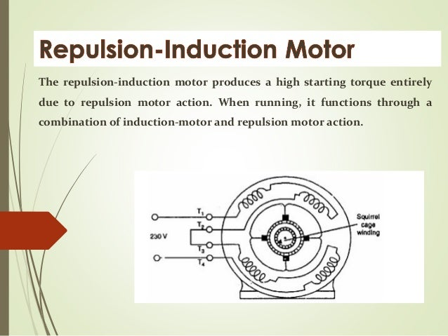 repulsion start induction motor diagram