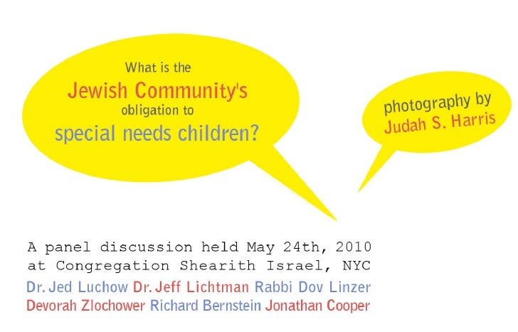 panel discussion - Jewish Community's obligation to special needs children