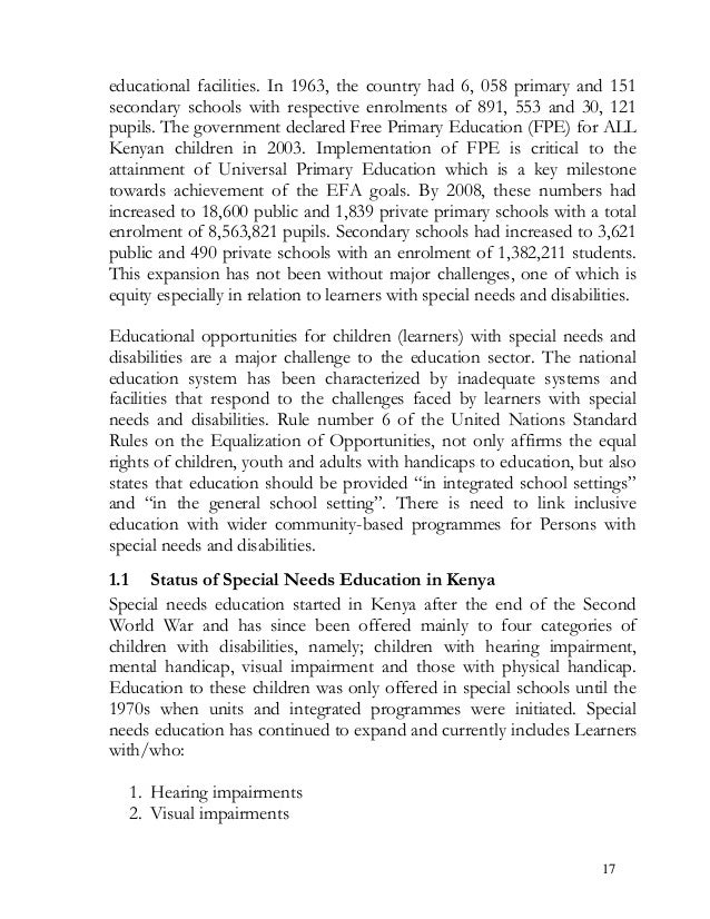 educational facilities. In 1963, the country had 6, 058 primary and 151 secondary schools with respective enrolments of 89...