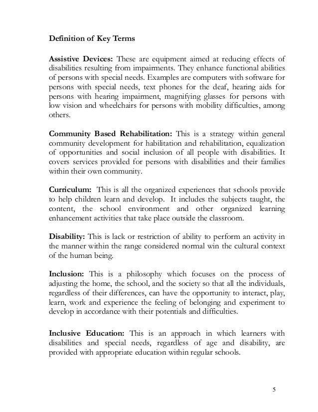 essays on special needs education Special education needs 9 pages 2214 words november 2014 saved essays save your essays here so you can locate them quickly.
